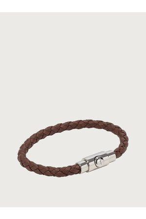 Salvatore Ferragamo Men Bracelets - Men Braided Leather Bracelet