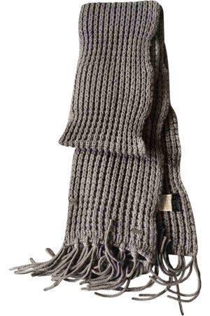 Woolrich Grey Wool Scarves