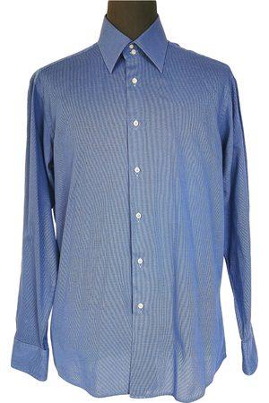 Emanuel Ungaro Men Shirts - Navy Cotton Shirts