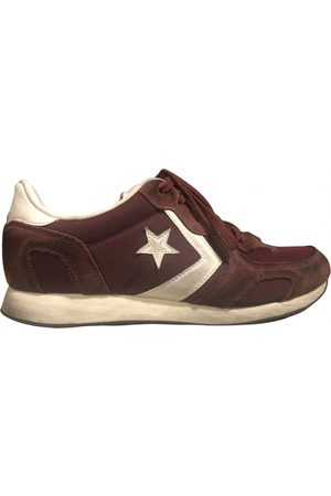 Converse Burgundy Suede Trainers