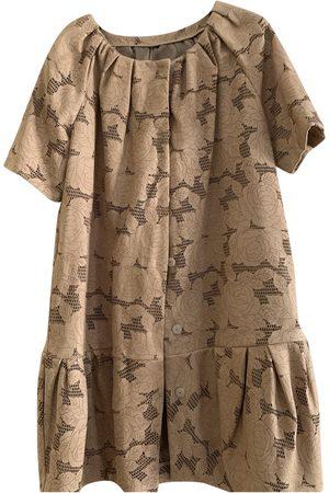 Giambattista Valli Camel Leather Coats