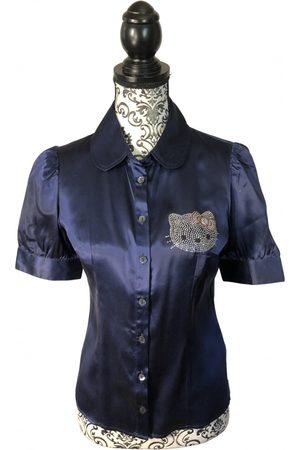 VICTORIA CASAL Navy Silk Tops