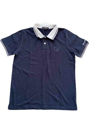 Gianfranco Ferré Navy Cotton Polo Shirts