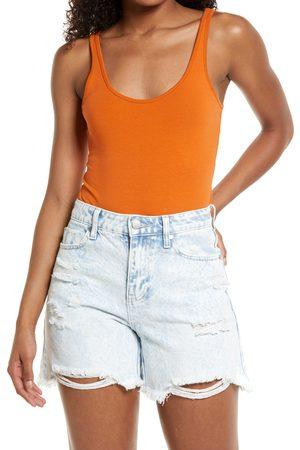 BP. Women Bodies - Women's Double Scoop Stretch Cotton Bodysuit