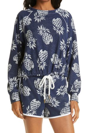 Le Superbe Women's After Sundown Print Terry Cloth Pullover