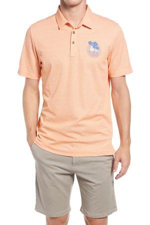 Travis Mathew Men Polo Shirts - Men's Brogrammer Slub Pique Polo