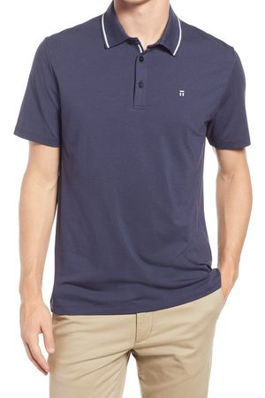 Tommy John Men's Second Skin Short Sleeve Tipped Polo