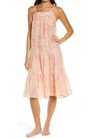 Papinelle Women Nightdresses & Shirts - Women's Hydrangea Tiered Cotton & Silk Nightgown