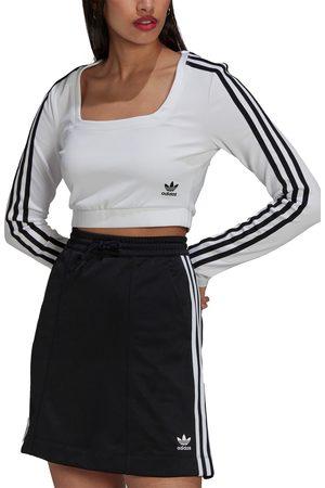 adidas Originals Women's Crop Long Sleeve Interlock T-Shirt