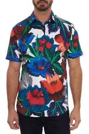 Robert Graham Men's Floral Confusion Short Sleeve Stretch Button-Up Shirt
