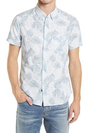 Rails Men Short sleeves - Men's Fairfax Short Sleeve Button-Up Linen Blend Shirt