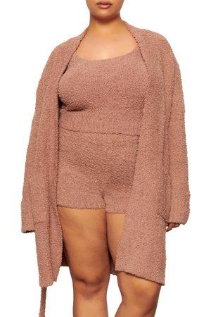 SKIMS Plus Size Women's Cozy Short Robe