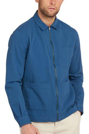 Barbour Men's Saltburn Seersucker Cotton Zip Shirt Jacket