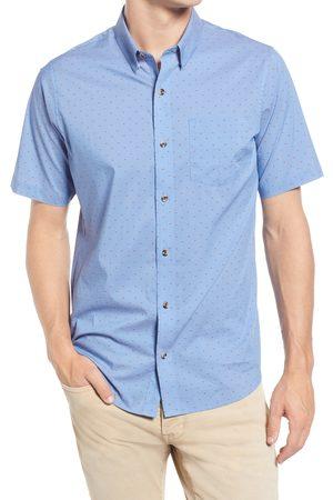 TravisMathew Men's Fanfare Neat Short Sleeve Stretch Button-Up Shirt