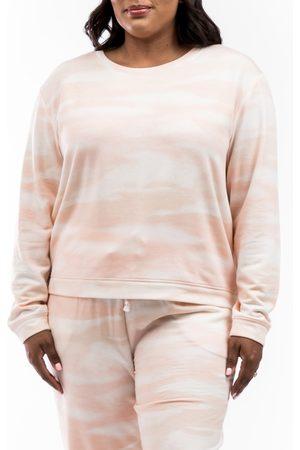 Rachel Parcell Women's Print Crewneck Sweatshirt