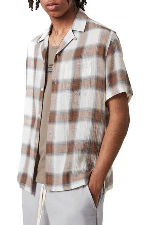 AllSaints Men Short sleeves - Men's Landa Slim Fit Plaid Short Sleeve Button-Up Shirt