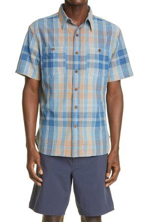 RRL Men's Plaid Short Sleeve Button-Up Work Shirt