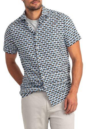 Rodd & Gunn Men's Hamilton's Landing Geo Print Short Sleeve Button-Up Shirt