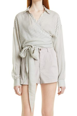 ba & sh Women's Marisa Stripe Wrap Shirt