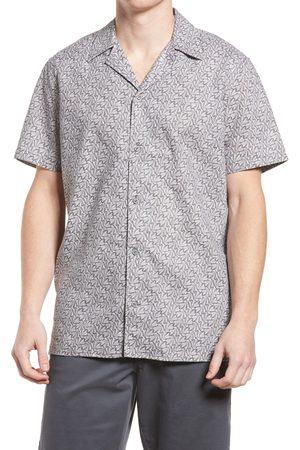 Treasure & Bond Men's Linen & Cotton Short Sleeve Camp Shirt