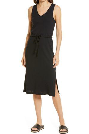 Treasure & Bond Women Midi Dresses - Women's Ribbed Sleeveless Midi Dress