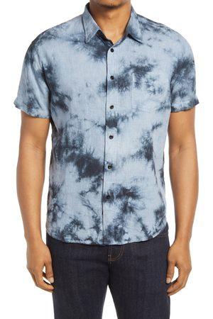 Rails Men's Midnight Tie Dye Short Sleeve Button-Up Camp Shirt