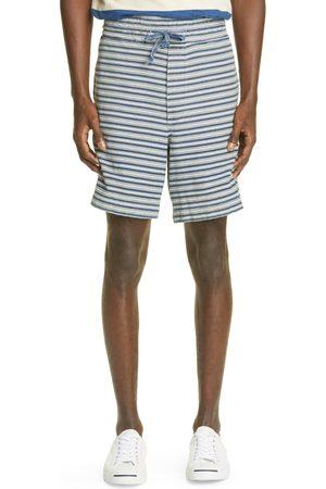 RRL Men's Indigo Stripe Cotton Shorts