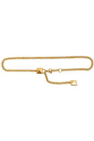 VALENTINO GARAVANI Roman Stud Chain Belt in Metallic Gold