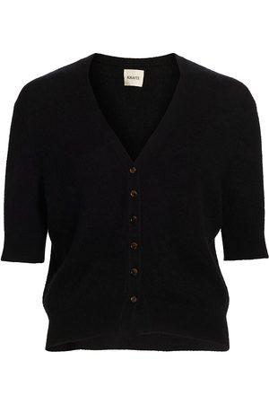 Khaite Women's Dianna Short-Sleeve Cashmere Cardigan - - Size Large