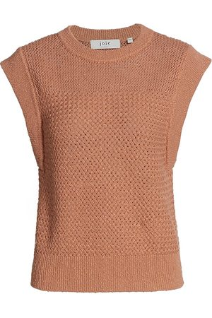 Joie Women's Pacita Knit Cotton Shell - Brushed Clay - Size Medium