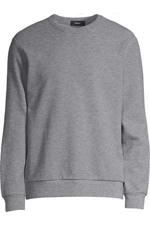 Theory Men's Spring Waffle Relaxed-Fit Sweatshirt - Heather Grey - Size Small