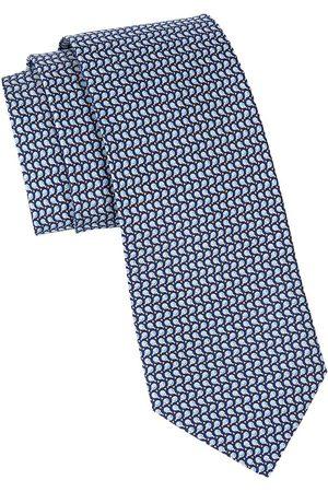 Salvatore Ferragamo Men's Ping-Pong Patterned Silk Tie - Royal