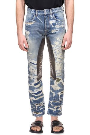 Givenchy Men's Straight Distressed Jeans - Medium - Size 32
