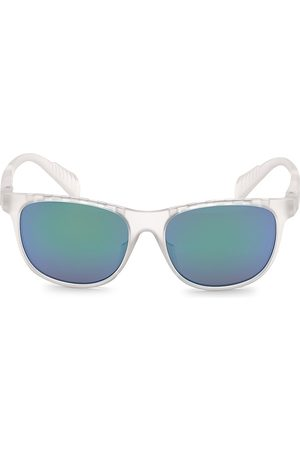 Adidas Men's 55MM Square Injected Sunglasses - Crystal