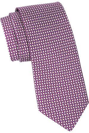 Salvatore Ferragamo Men's Ping Pong Printed Silk Tie