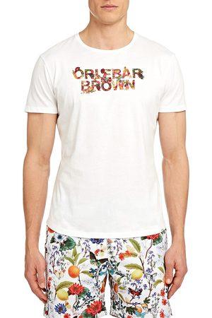 Orlebar Brown Men's Wild Roses Logo Tee - Cloud - Size XXL