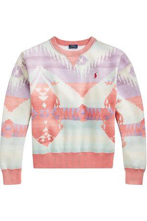 Polo Ralph Lauren Women Sweatshirts - Women's Printed Longsleeve Sweatshirt - Rose - Size XL