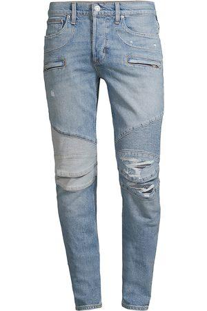 Hudson Men's Blinder Biker V2 Distressed Skinny Jeans - Coastal - Size 36