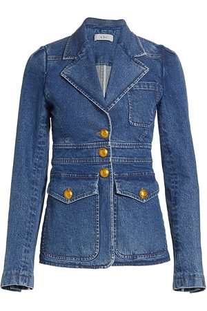A.L.C. Women Denim Jackets - Women's Amelia Denim Jacket - Medium Wash - Size 4