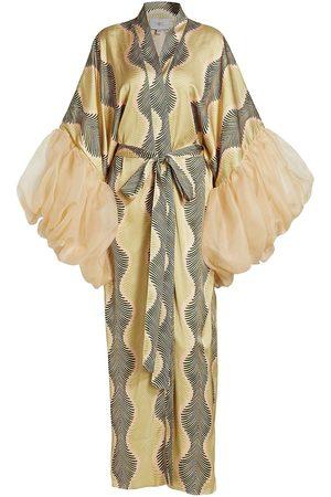 Fe Noel Women Bathrobes - Gatsby Palm Puff Sleeve Robe