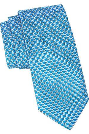 Salvatore Ferragamo Men Neckties - Men's Horse Patterned Silk Tie