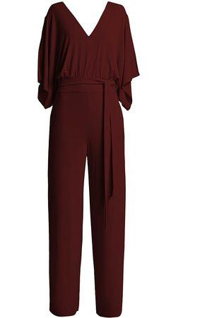 Halston Heritage Women's Darcy Jersey Jumpsuit - Scarlet - Size 10