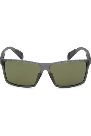 adidas Men's 63MM Square Injected Sunglasses - Grey Other