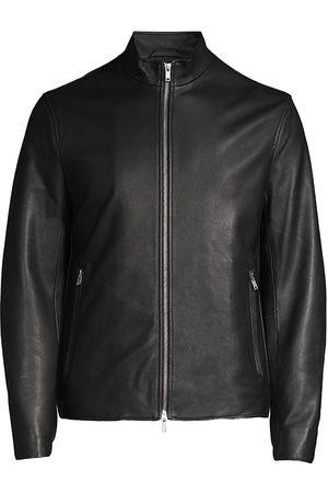 THEORY Men Leather Jackets - Morveck Leather Bomber Jacket