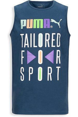 Puma Boy's TFS Graphic Muscle T-Shirt - Dark Denim - Size 11