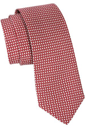 Salvatore Ferragamo Men's Ping-Pong Patterned Silk Tie