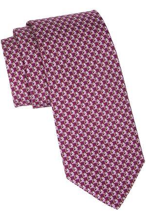 Salvatore Ferragamo Men's Horse Patterned Silk Tie