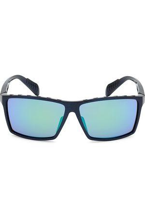 Adidas Men's 63MM Square Injected Sunglasses - Matte Mirror
