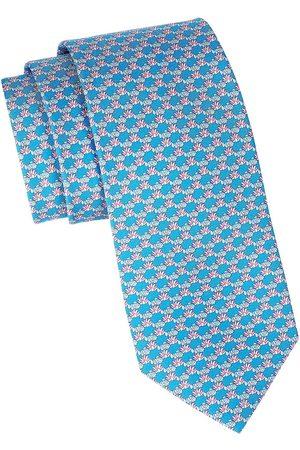 Salvatore Ferragamo Men's Clown Fish Printed Silk Tie