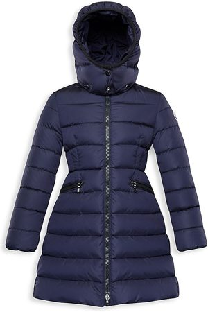 Moncler Little Girl's & Girl's Charpal Long Coat - Navy - Size 4